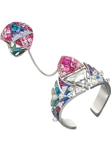 Swarovski Tangara Ring And Cuff Set Renkli